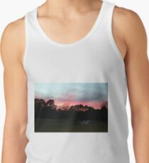 Colorful Sky Above The Trees Tank Top