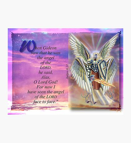 Angel of the LORD-Judges 6:22 Photographic Print
