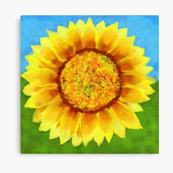 Sun Flower Image  Canvas Print