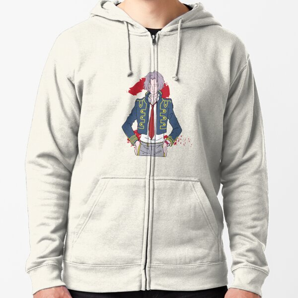 Zero escape 999 snake bust with number 2 behind Zipped Hoodie