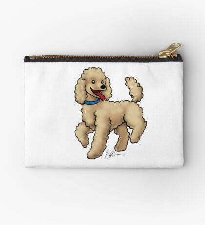 Poodle Brown Studio Pouch