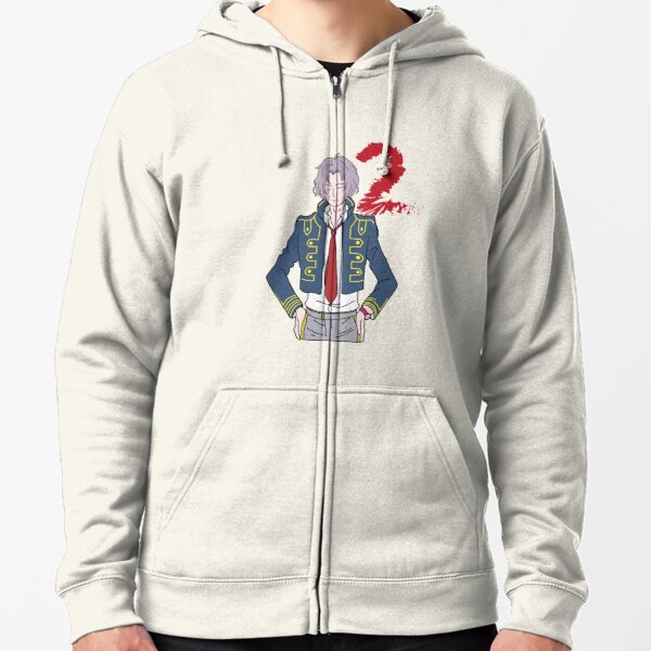 Zero escape 999 snake with number 2 Zipped Hoodie