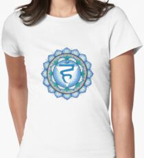The Throat Chakra Womens Fitted T-Shirt