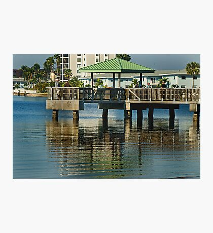 Friends on a Pier  Photographic Print