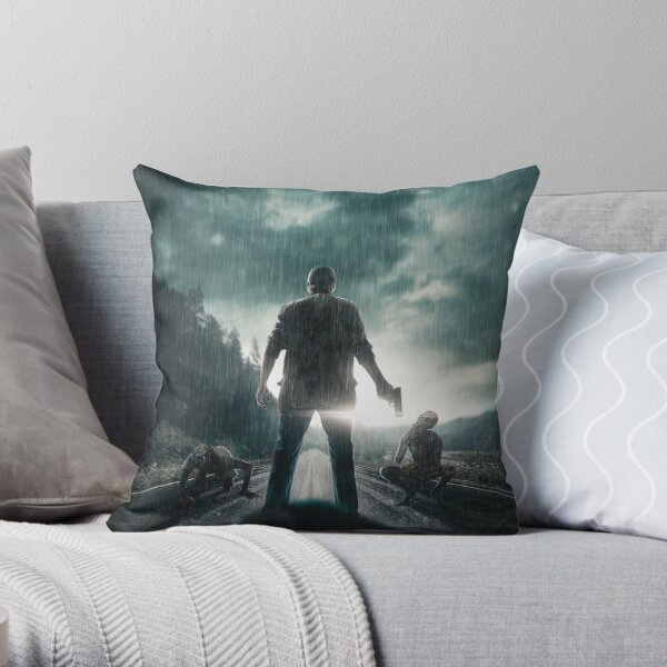 Road Zombies are attacking Throw Pillow