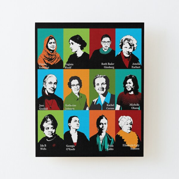 Feminist Icons Wood Mounted Print