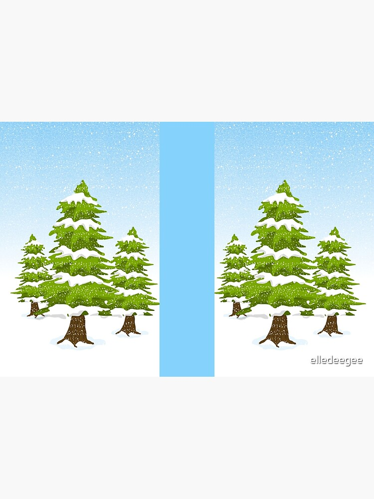 Snowy Winter Trees by elledeegee