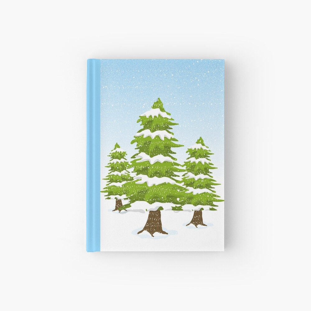Snowy Winter Trees Hardcover Journal
