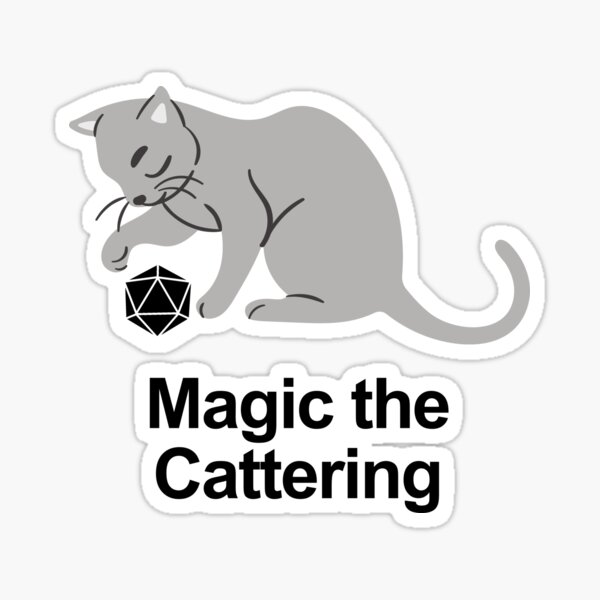 Magic the Cattering 4 - White / Black Sticker