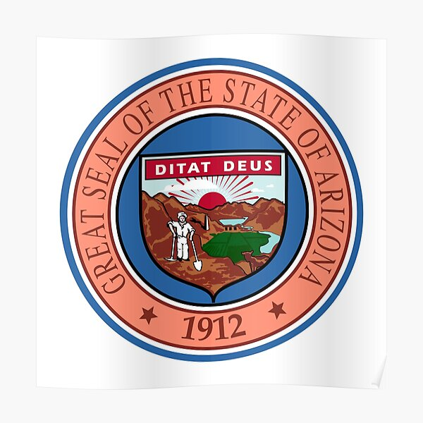 Arizona AZ Official State Seal Poster