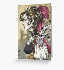 Steampunk Doll Greeting Card