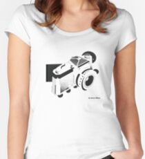 Studio Class Abstract Camera Women's Fitted Scoop T-Shirt