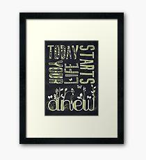 Anew Framed Print