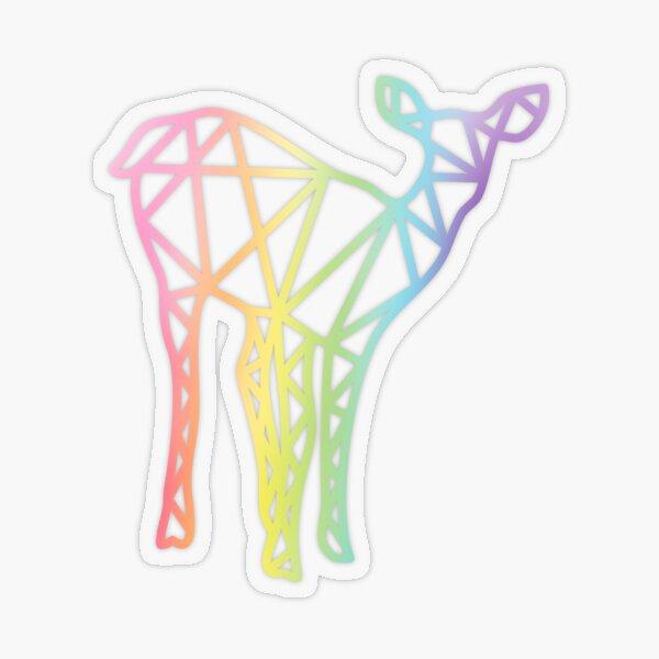 Rainbow Deer Geometric Sticker Transparent Sticker