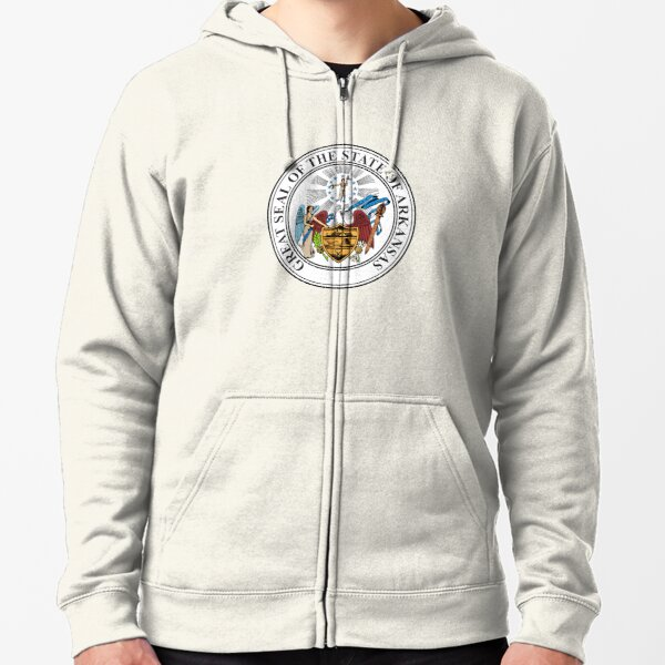 Arkansas AR Official State Seal Zipped Hoodie