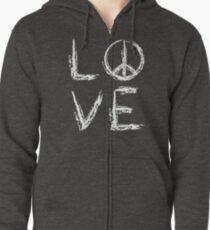 Peace and Love Zipped Hoodie