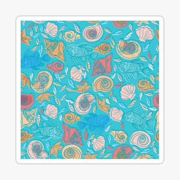 Shells and Fish Pattern Sticker