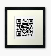 QR Code - Superman Framed Print