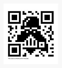 QR Code - Darth Vader Photographic Print