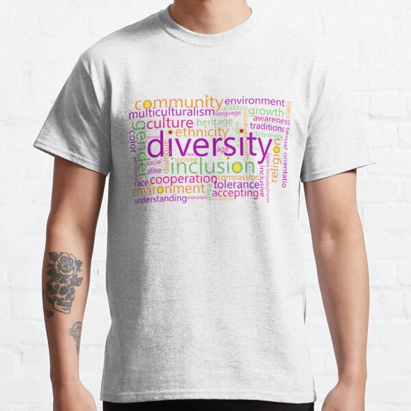 Diversity Word Cloud Classic T-Shirt
