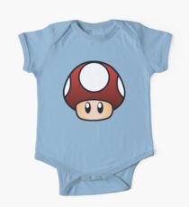 Super Mario Mushroom One Piece - Short Sleeve