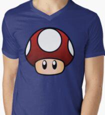Camiseta para hombre de cuello en v Súper Mario Mushroom