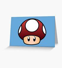 Super Mario Mushroom Greeting Card