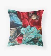 Poppy Machine Embroidery no.4 Throw Pillow