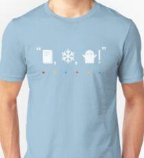 """Camiseta ajustada """"¡Papel, nieve, un fantasma!"""""""