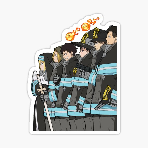 Squad 8 from Fire Force Sticker