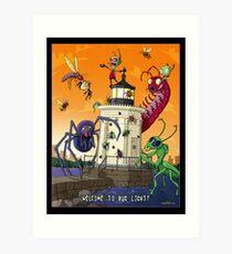 Invader Zim at Bug Light Art Print