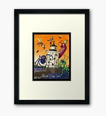 Invader Zim at Bug Light Framed Print