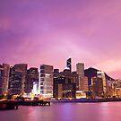 Hong Kong skyline at night by kawing921