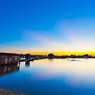 Sunset along the pond in Hong Kong by kawing921