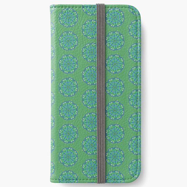 Abstract Peacock Flower Pattern iPhone Wallet