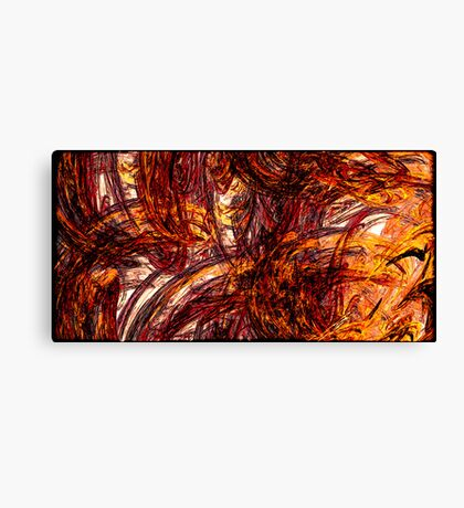 Fiery Flames Canvas Print