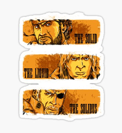 The Solid, The Liquid, The Solidus Sticker