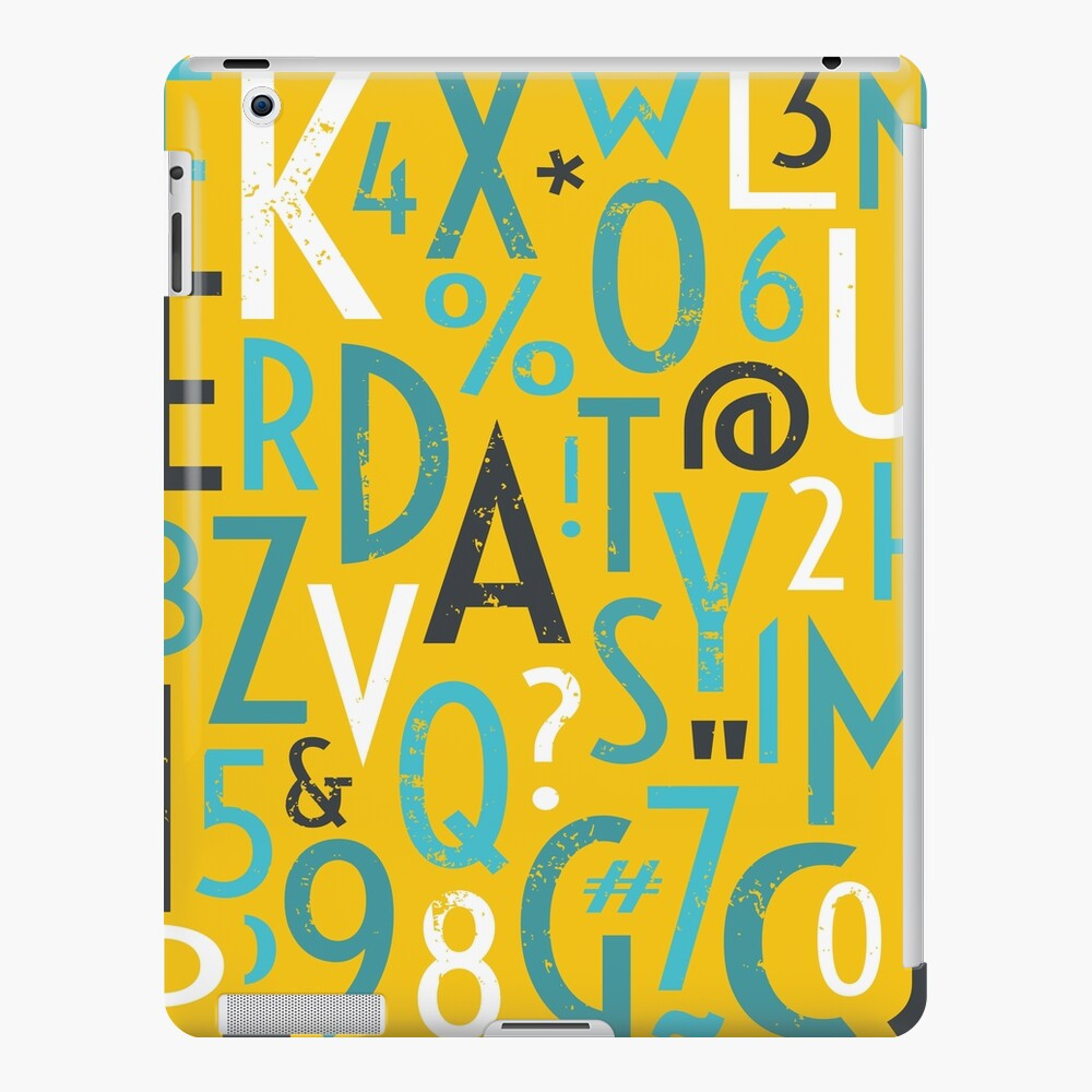 Retro Letters and Numbers iPad Case & Skin