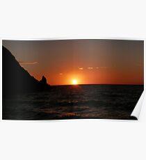Sunset Silhouette, Devon Poster