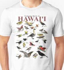 The Endemic Birds of Hawaii Unisex T-Shirt