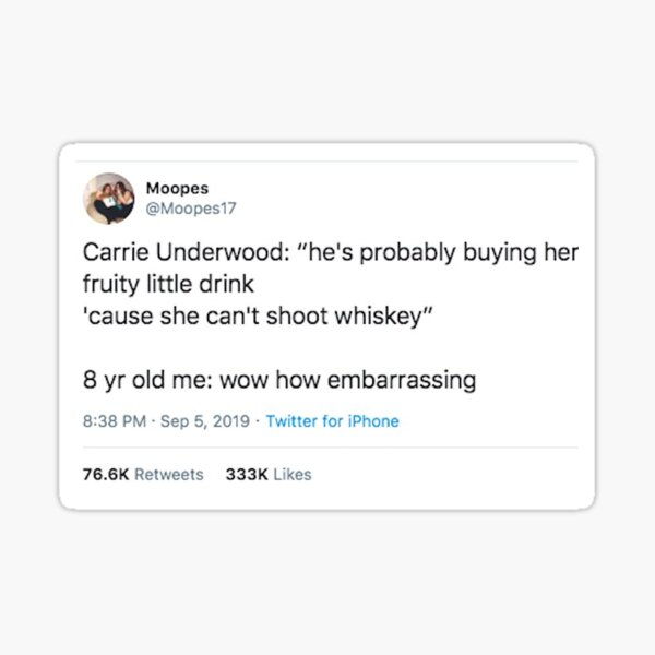 Can't Shoot Whiskey Sticker