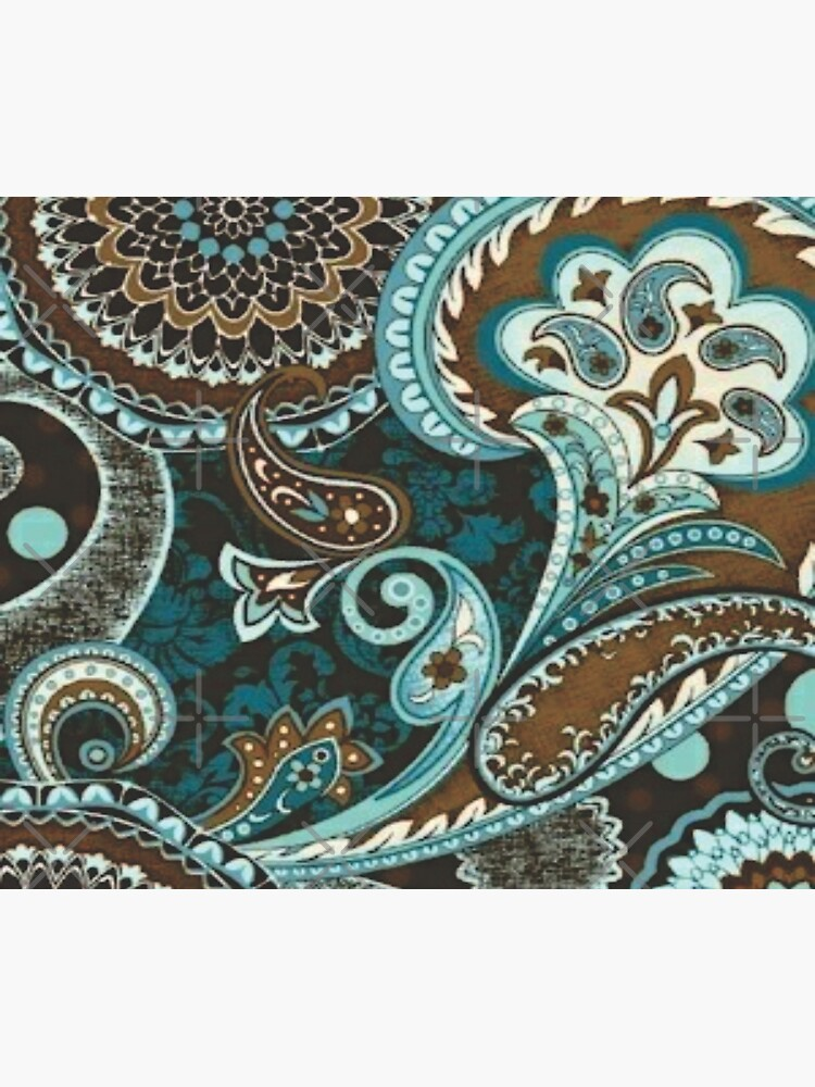 Turquoise Brown Vintage Paisley by GersonRamos