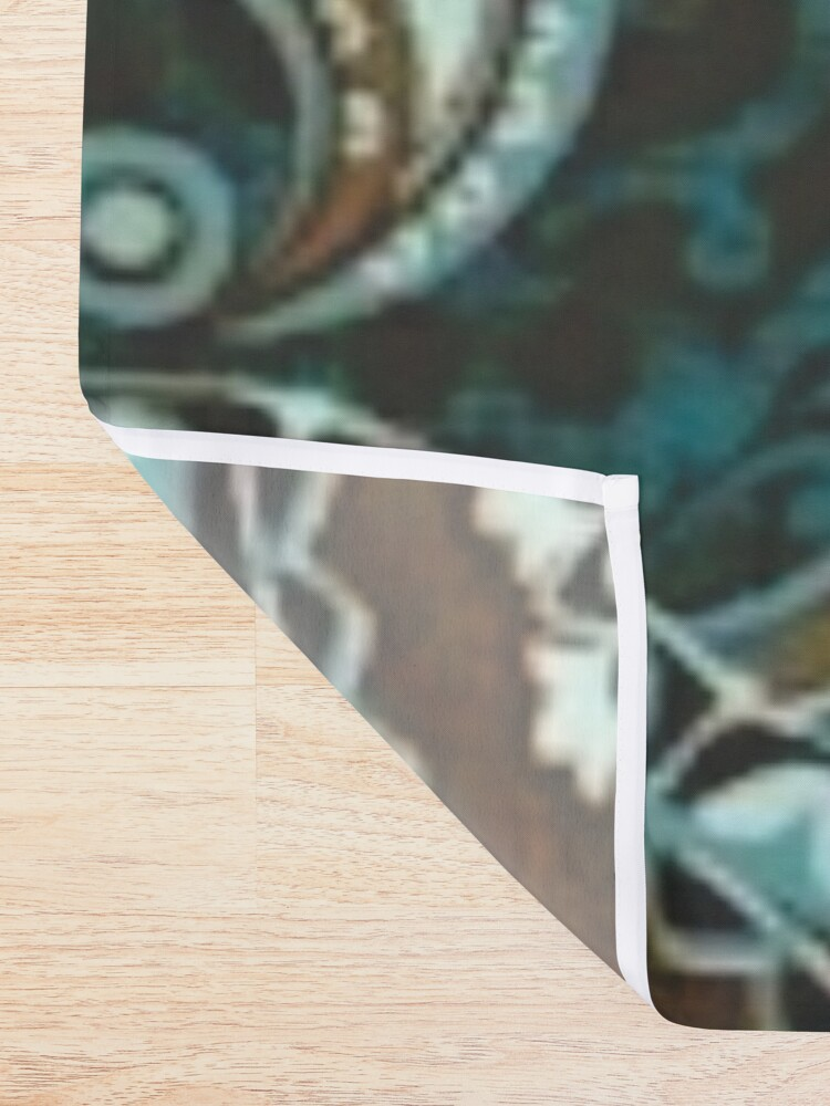 Alternate view of Turquoise Brown Vintage Paisley Shower Curtain