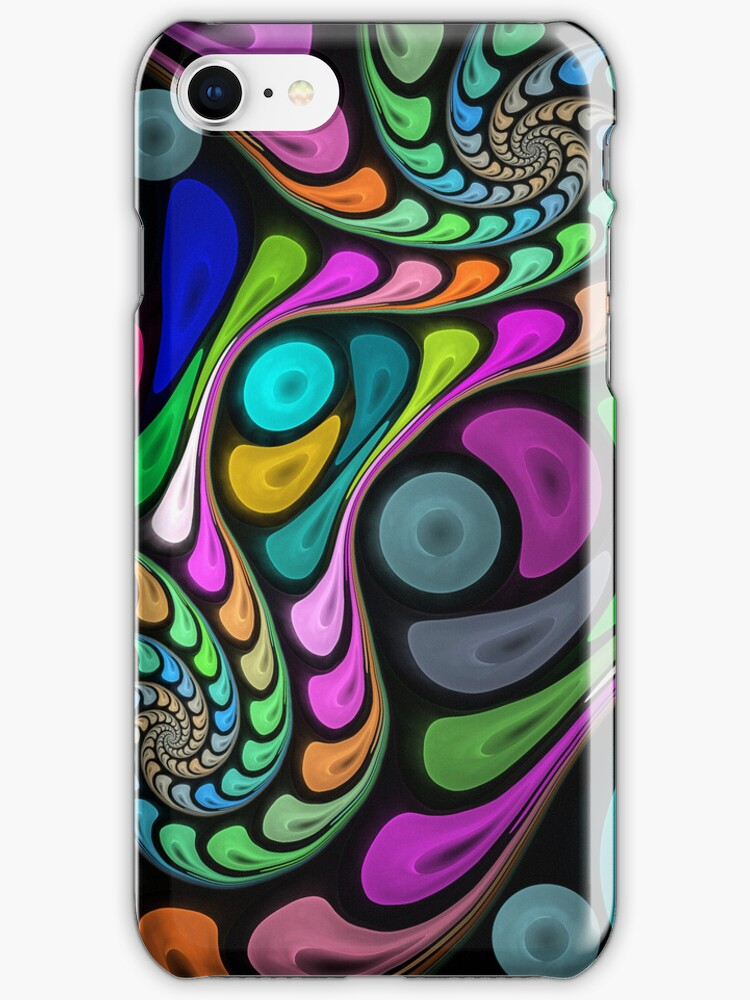 Swirling fractal abstract case by walstraasart
