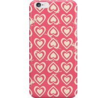 Cute Vintage Hearts iPhone Case/Skin