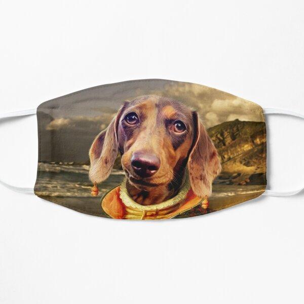 Dachshund Dog Portrait - Penny Flat Mask