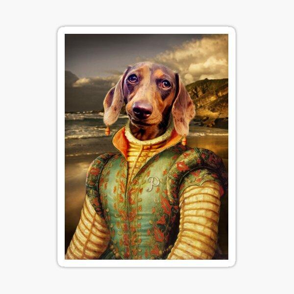 Dachshund Dog Portrait - Penny Sticker