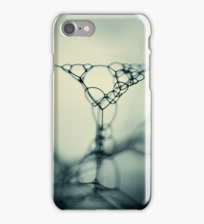 bubbles in teal iPhone Case/Skin