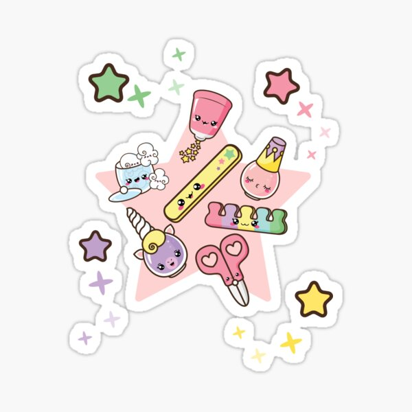 Kawaii nail time! Sticker