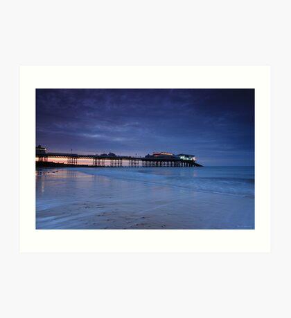Cromer Pier Evening Blues Art Print